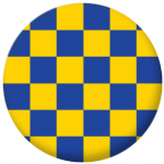 Surrey County Flag 25mm Pin Button Badge